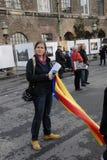 有卡塔龙尼亚自由的SINLE女性 库存照片