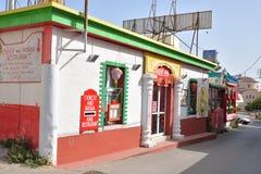 有印地安和中国烹调的餐馆 库存图片