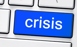 有危机的计算机白色键盘 库存图片