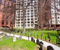 有历史波士顿的墓地 免版税库存图片