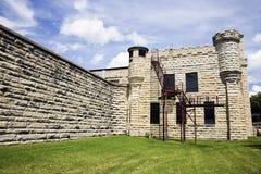 有历史的伊利诺伊监狱joliet墙壁 免版税库存照片