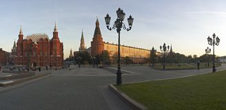 有历史的克里姆林宫莫斯科博物馆俄&# 图库摄影