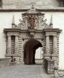 有历史的入口 免版税库存照片