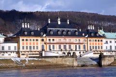 有历史的城堡Pillnitz 免版税库存照片