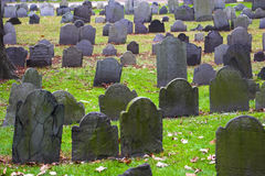 有历史的墓地 免版税库存照片