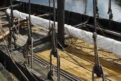 有历史的复制品船 免版税库存图片