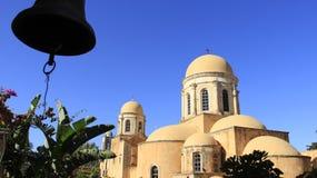 有历史的安排 Agia Triada老教会在克利特海岛 希腊 图库摄影