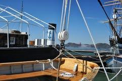 有历史的小船 免版税库存图片