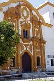 有历史的房子在塞维利亚 库存照片