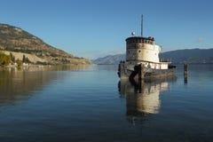 有历史的拖轮, Okanagan湖, Penticton 免版税图库摄影