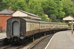 有历史的支架llangollen铁路运输 库存照片