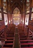 有历史的教会内部 免版税库存图片