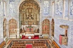 有历史的教会在Castro, Verde,阿连特茹,葡萄牙 图库摄影