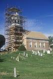 有历史的教会的重建 免版税图库摄影