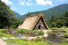 有历史的日本shirakawago村庄 图库摄影