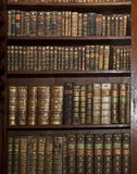 有历史的旧书在老图书馆里 免版税库存图片