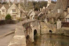 有历史的村庄 库存图片