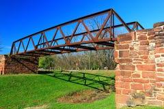 有历史的桥梁 免版税库存图片