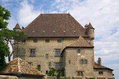有历史的法国豪宅 免版税库存图片