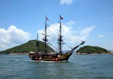 有历史的海洋老船 免版税库存图片