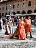有历史的游行vigevano 免版税库存图片