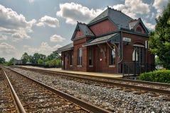 有历史的火车站 库存图片