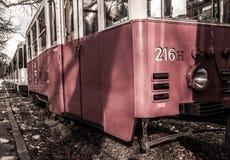 有历史的电车 免版税库存照片