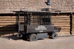 有历史的监狱老无盖货车 免版税图库摄影
