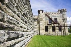 有历史的监狱joliet墙壁 免版税库存照片