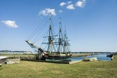 有历史的老船 免版税库存照片