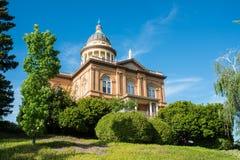 有历史的赤褐色法院大楼 图库摄影