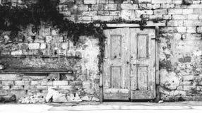 有历史的门 库存图片