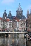 有历史的阿姆斯特丹 图库摄影