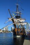 有历史的风帆船Gotheborg 免版税库存照片