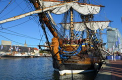 有历史的风帆船Gotheborg 免版税库存图片