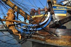 有历史的风帆船Gotheborg 库存照片