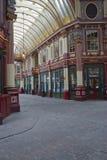 有历史的leadenhall市场 库存图片