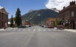 有历史的silverton城镇 库存图片