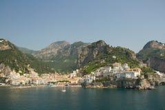 有历史的Taormina在西西里岛,意大利 图库摄影