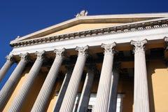有历史雅典的大厦 库存照片
