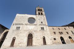 有历史bevagna的教会 库存照片