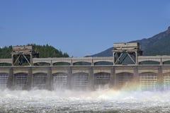 有历史bonneville的水坝 库存图片