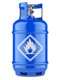 有压缩气体的丙烷圆筒 向量例证