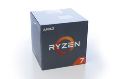 有原始的包装的AMD Ryzen 7 CPU 库存照片