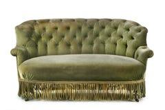 有原始的老材料的古色古香的沙发需要恢复 库存照片