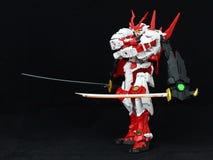 有双重武士的日本机器人 免版税库存照片