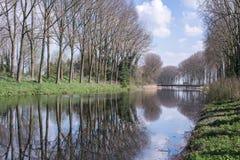 有反射的运河 库存照片