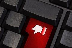 有反感标志的键盘 库存图片