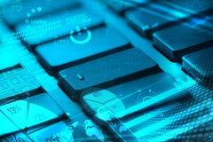 有发光的图的键盘 免版税库存图片