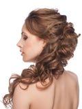 有发型的妇女 免版税图库摄影